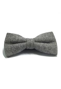 8530807b0536 Splice Cufflinks Dolly Series Light Grey Patterned Wool Pre-tied Bow Tie  SP744AC04LAHSG 1