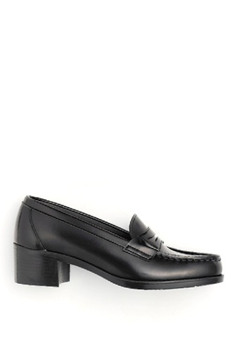HARUTA 黑色 高跟樂福皮鞋-4603 8A49CSHF4EB60DGS_1
