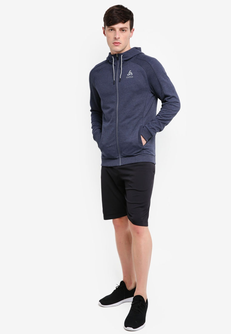 Midlayer Core Odlo Diving Melange Navy Full Zip Hoodie gdq1Odx8w