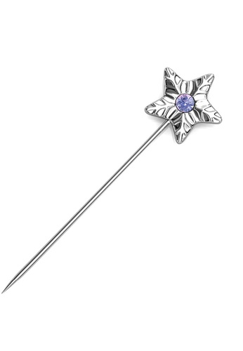 Her Jewellery silver Star Petal Brooch (June)-  Made with premium grade crystals from Austria 52059AC50675E1GS_1