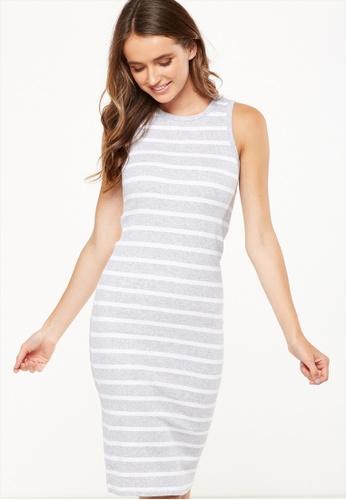 Cotton On grey Lena Midi Dress 5B6E4AA06CCCC9GS_1