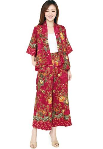Flike Batik multi Cardigan + Celana Kulot (Tanpa Dalaman) Motif Kipas Kobong 12EF5AA2A332B1GS_1