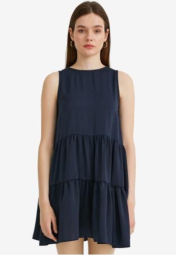 KOTON blue Tiered Babydoll Dress 31DBCAAFCD927FGS_1