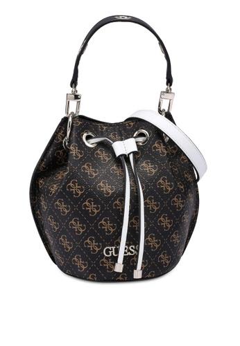 GUESS brown Washington Mini Drawstring Bucket Bag CA4CEAC6837500GS_1
