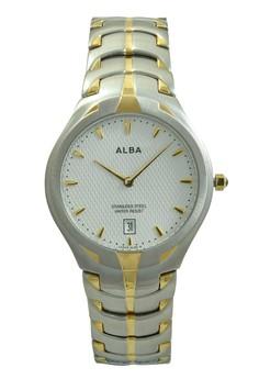 Image of ALBA Jam Tangan Pria - Silver Gold White - Stainless Steel - AVKB28