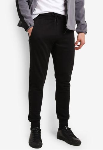 Burton Menswear London black Black Slim Fit Joggers BU964AA0SHO5MY_1