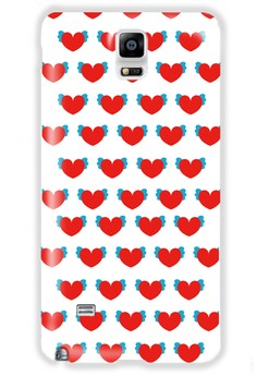 Winged Hearts Glossy Hard Case for Samsung Galaxy Note 4