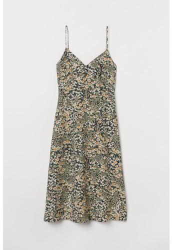 H&M grey and multi Sleeveless Dress 43C77AA274A428GS_1