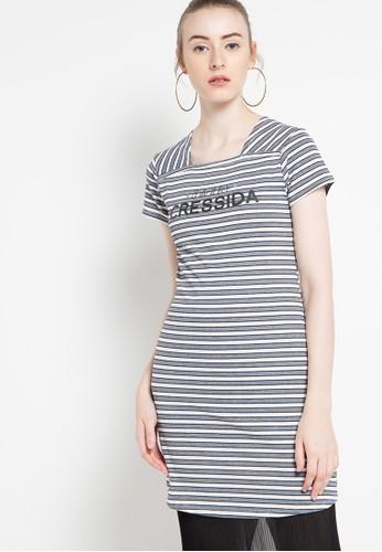 Cressida Ladies grey Striped Yarndyed Blouse CR653AA56TMLID_1