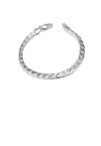 Glamorousky silver Simple and Fashion Geometric Bracelet B2174AC1C7EB0EGS_1