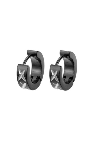 ADORA black Stainless Steel Black Earrings A7321AC4399C81GS_1