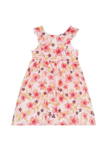 Du Pareil Au Même (DPAM) white Sleeveless Print Dress 0C80EKA832EEB2GS_1