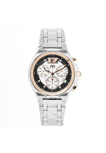 TECHNOMARINE gold Technomarine Manta Men 44mm Case Silver Stainless Steel Strap Black, Silver Dial Quartz Watch TM-215011 TE359AC0F5ENSG_1