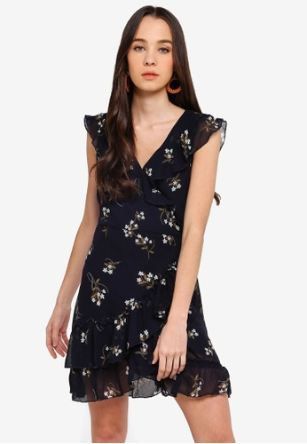 Cotton On navy Woven Millie Wrap Dress AE853AA0526912GS_1