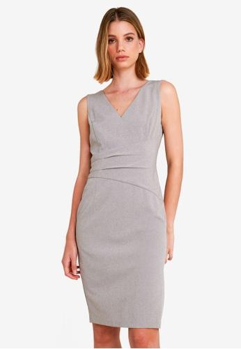 FORCAST grey Sheila Panelled Dress E8A98AA4FB567CGS_1