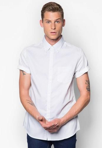 印花短袖esprit高雄門市襯衫, 服飾, 襯衫