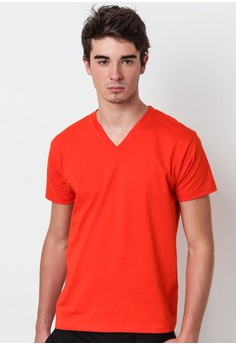 Orange V Neck T-shirt