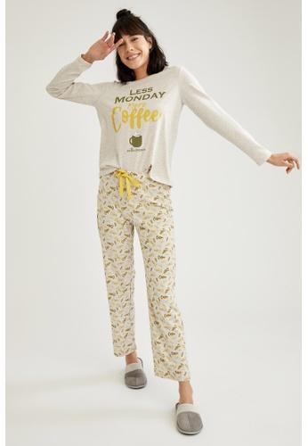 DeFacto beige Woman Homewear Knitted Set 5476FAA594E6E2GS_1