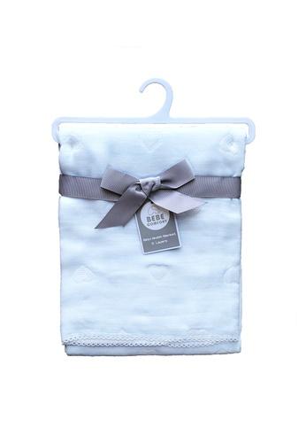 Little Kooma blue Baby 5 Layers Super Soft Muslin Blanket - Blue Heart 002F2KC97C8D72GS_1