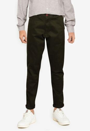 !Solid green Classic Chino Pants 7AEA8AAFE24FAEGS_1