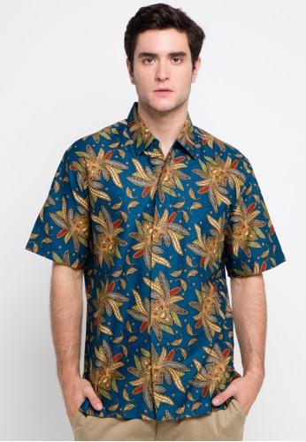 bhatara batik blue and multi Natural Shirt BH237AA0VMGVID_1