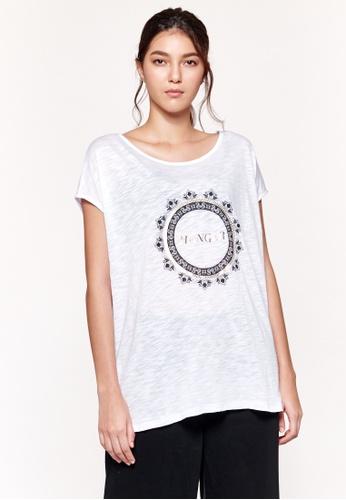 Sisley white Printed T-shirt 4BCBFAA1C24D11GS_1