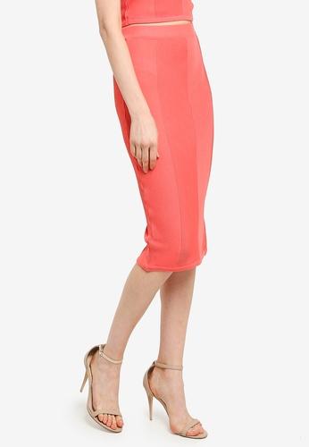 Mink Pink pink Chevron Knit Skirt CDE43AA74C1495GS_1