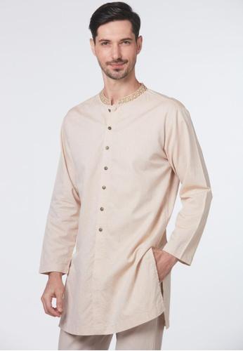 East India Company Dunstan Sherwani- Mandarin Collar with Embroidery 52626AAA5D9A44GS_1