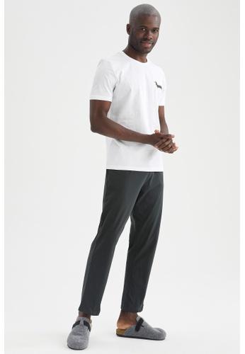 DeFacto white Regular Fit Cotton Top & Bottom Pyjamas Set 1A9D4AA868EC12GS_1