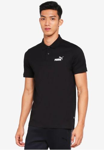 Puma black Sportstyle Core Ess Jersey Polo Shirt 4A3CFAAE74787BGS_1
