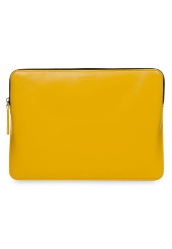 """knomo yellow Laptop Leather Zip Sleeve 12"""" (Fits Macbook 12"""") (Yellow) D837DAC1E215C0GS_1"""