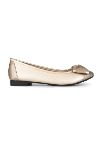 MAUD FRIZON gold Unlined Ballerinas With Grosgrain Bow B35C4SH9227A5EGS_1