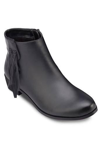 經典流蘇仿皮踝靴, zalora 衣服評價女鞋, 鞋