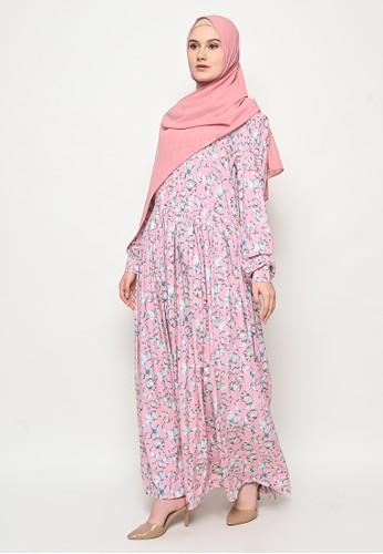 Tazqa Hijrah pink Karmila Dress 8224FAA4137FA9GS_1