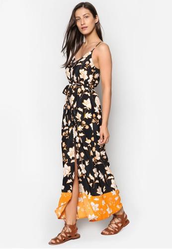 前開衩花卉印花長洋裝, 服飾,esprit 童裝 洋裝