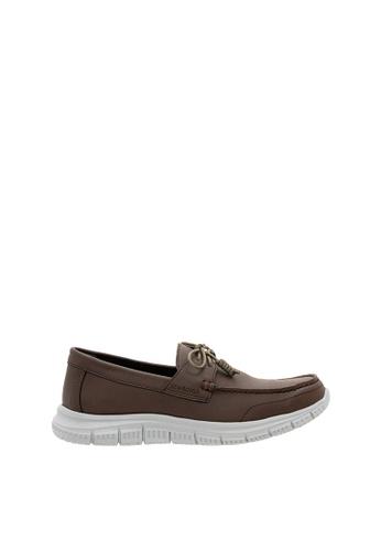 SEMBONIA brown Men Microfiber Loafer CB55ESHC38A837GS_1