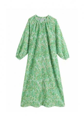 THE LOUNGE EDIT green Thea Dress 5B48EAA7DCFADBGS_1