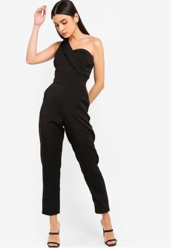 d8762a6b2fb8e Shop Lavish Alice One Shoulder Bodice Jumpsuit Online on ZALORA Philippines