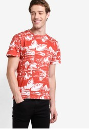 Indicode Jeans red Cannon Faded Washed All Over Print T-Shirt IN815AA98FABMY_1