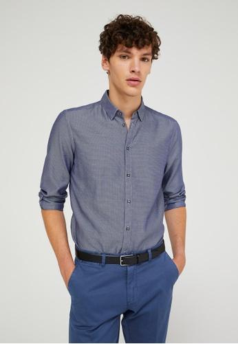 Sisley multi Regular Fit Shirt 1023AAADF29CC9GS_1