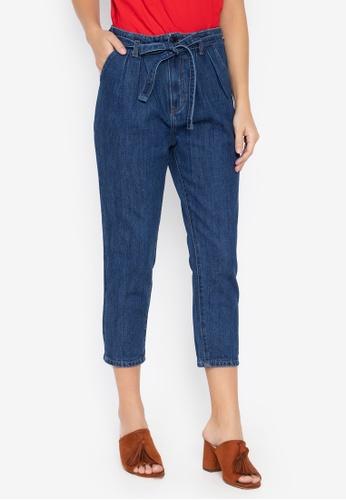 624e381f318 Shop NEXT High Rise Denim Jeans w  Belt Online on ZALORA Philippines