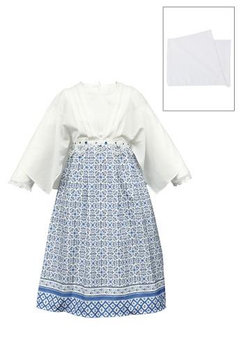 ESTRELLA white and blue Muslim Dress Anak ESM 185 6/12 2D71AKAA578137GS_1