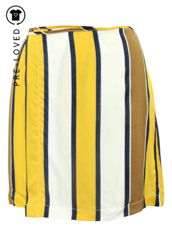 Reformation multi Pre-Loved reformation Multicolor Striped Wrap Skirt 25ACBAA4A3CCFCGS_1