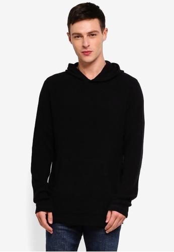 Cotton On 黑色 Hooded Waffle Knitwear 37B2DAA076474FGS_1