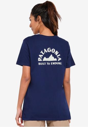 Patagonia navy Geologers Organic Crew T-Shirt PA549AA0SVNFMY_1