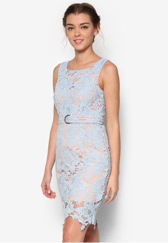 Rosie 蕾絲無袖連身裙、 服飾、 洋裝MeganeRosie蕾絲無袖連身裙最新折價