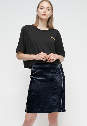 OUTSTANDING ORDINARY navy Cafri Skirt OU203AA61BTESG_1