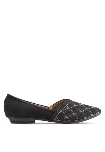 Louis Cuppers black Perforated Flats LO977SH33BDUMY_1