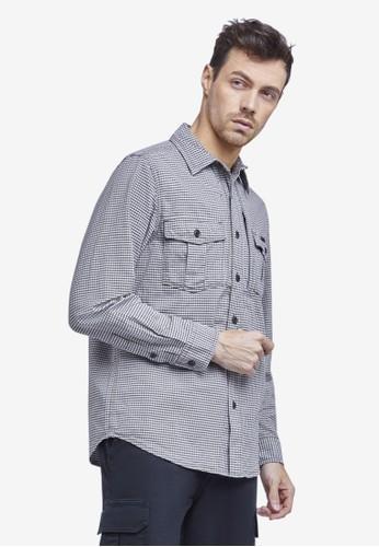 MGEE brown Mgee Checkered Shirt F0C33AAFD7D223GS_1