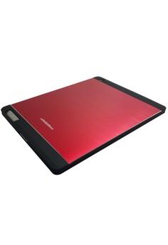 Sleek Metal Case for Apple iPad 2/3/4 (Red)
